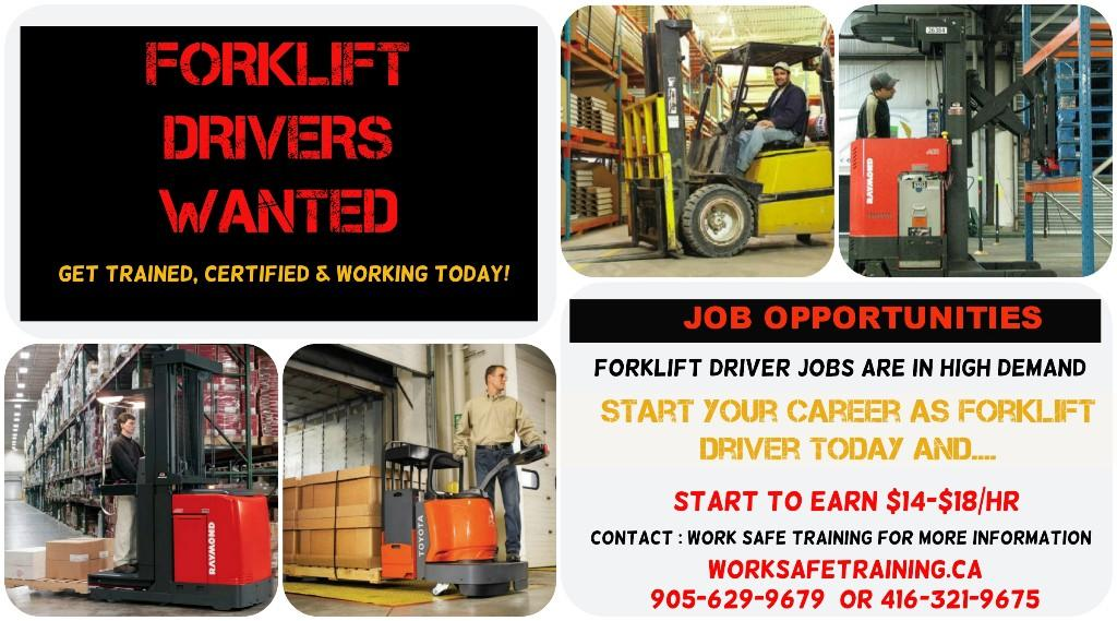 Forklift Training Courses Job Assistance Earn 15 22 Hr Mississauga Dec 6th Apr 4th Mon